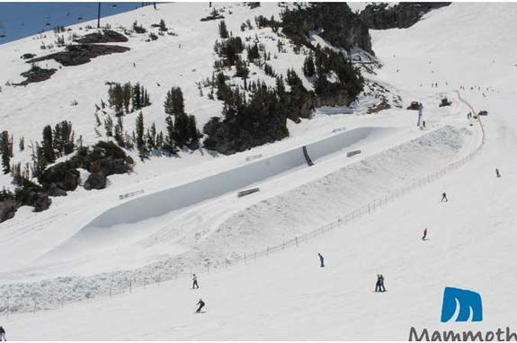 Mammoth Mountain halfpipe, May 2010