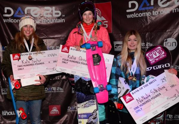 Women's Halfpipe podium 2013