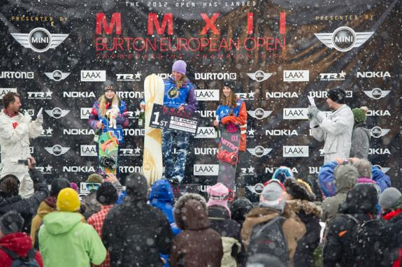 Burton Open Girls Junior Halfpipe Podium