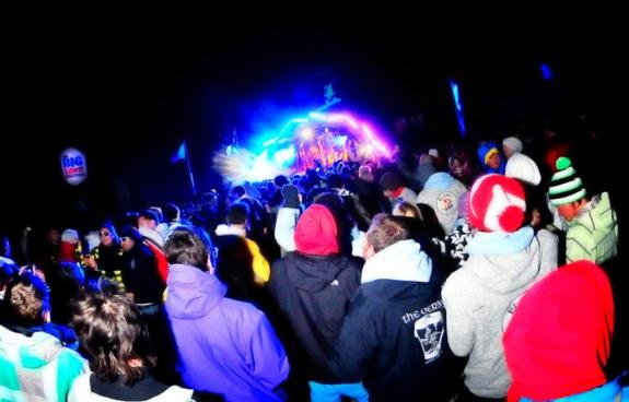 Big Snow Festival 2010, mountain side stage
