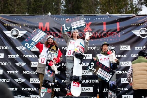 Burton Open Men's Podium 2012