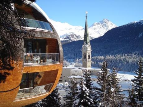 Ski Resort St Moritz in Switzerland