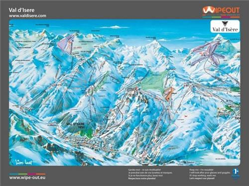 Espace Killy 2010/11 Wipeout Map