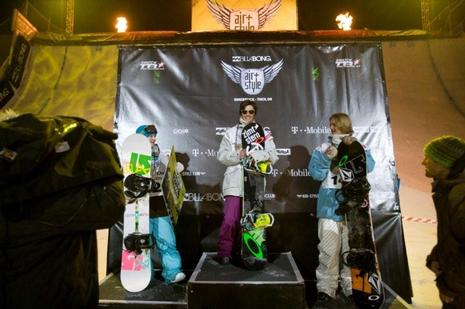 Billabong Air-Style09 winners podium