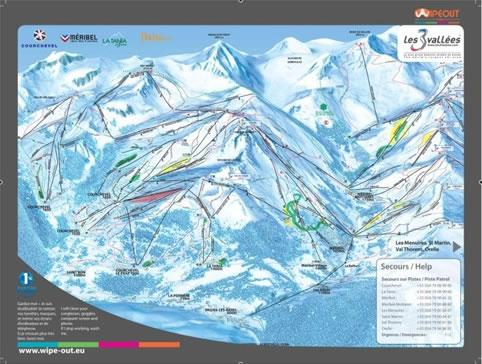 3-Valleys 2010/11 Wipeout Map. 3-VALLEYS WIPEOUT FEATURES :