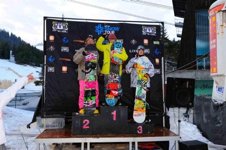 Brits 09, mens slopestyle podium
