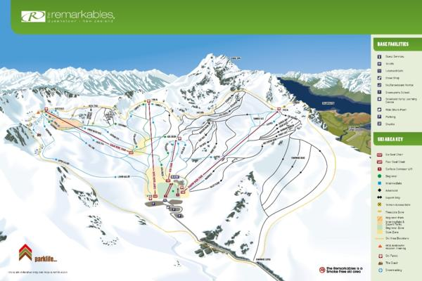 The Remarkables Trail Map 2014-15