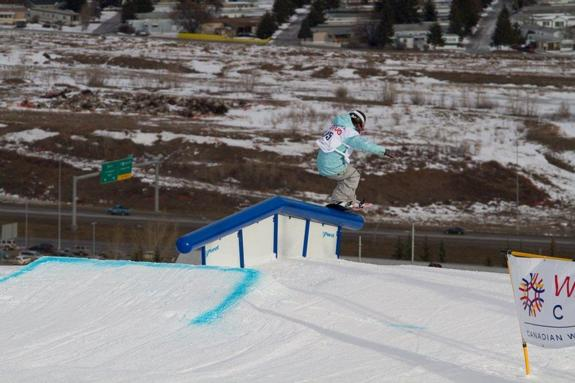 Canadian Open womens Slopestyle 2011 winner Jamie Anderson