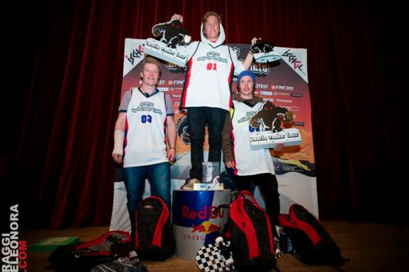 male podium at the 2011 World Rookie Finals