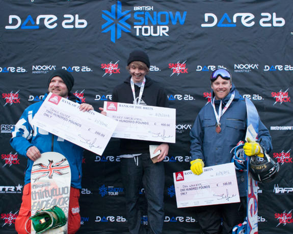 Mens Halfpipe Podium The Brits 2012