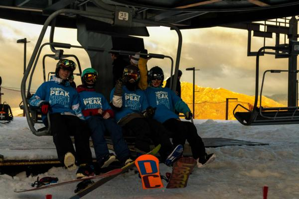 First on the chair at Coronet Peak