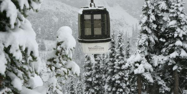 First snow at Whistler