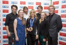 Jenny Jones and stars of Sochi celebrate success!