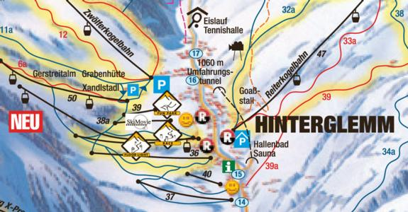 Hinterglemm 2010/11 terrain park map
