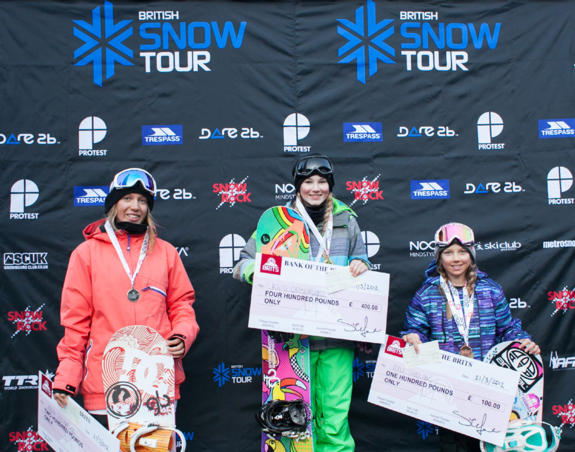 Brits Big Air Womens Podium