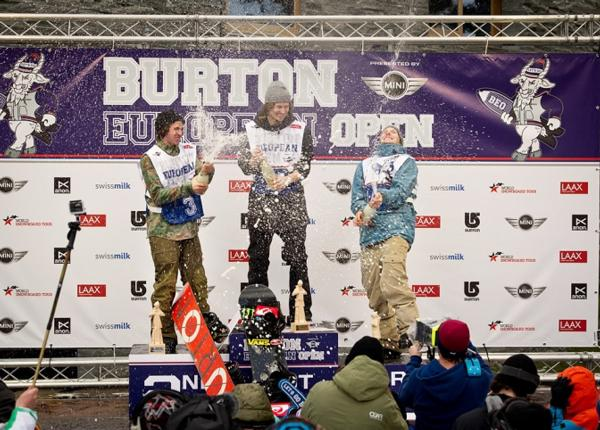 BEO 2014 Mens Halfpipe final podium