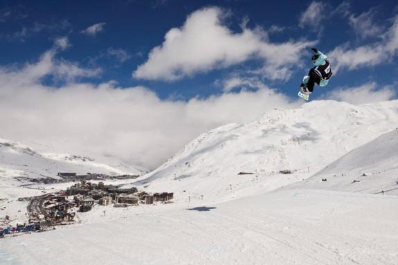 Jamie Anderson winner of the womens 2011 Europe Winter X Games Slopestyle Final