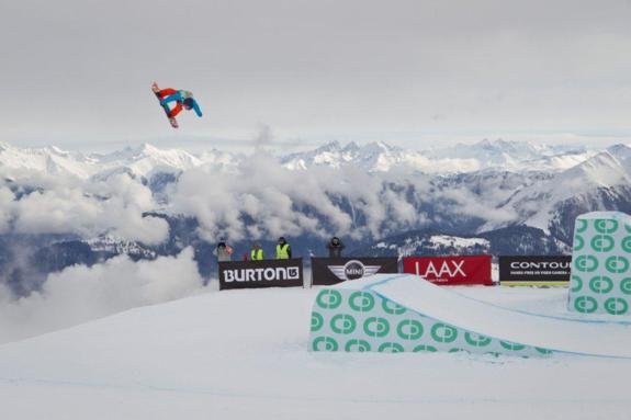 Sebastien Toutant in the mens slopestyle semi at BEO11