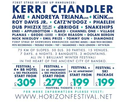 Horizon Festival Line Up 2014