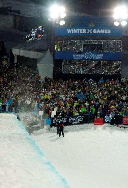 Iouri Podladtchikov on winning run, half pipe finals at Winter X Games Europe