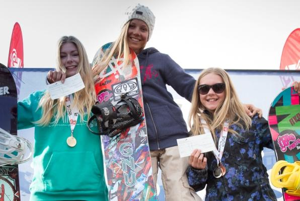 The Brits Halfpipe Women's Podium