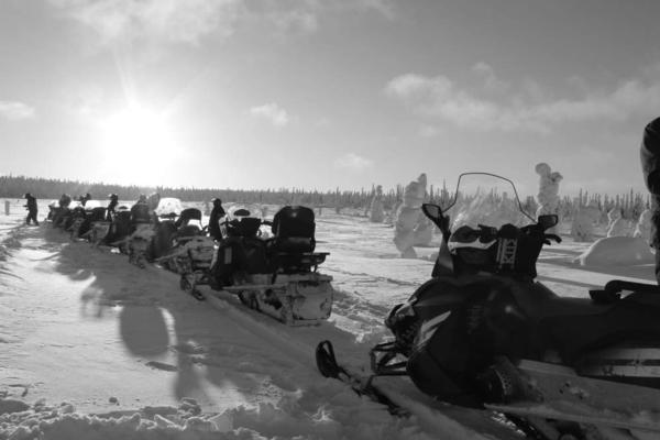 Snowmobiling Group Salla