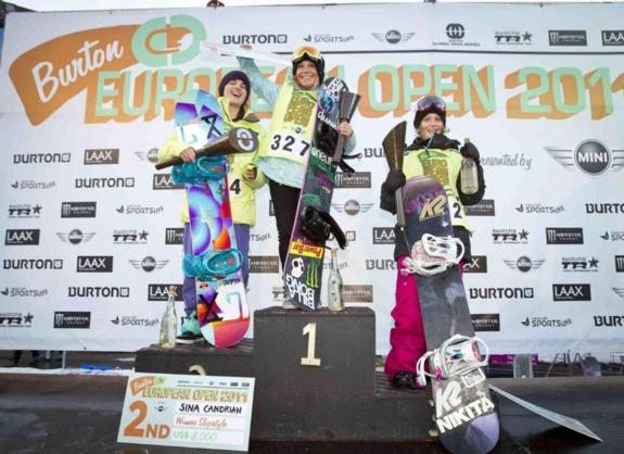 BEO11 womens slopestyle podium