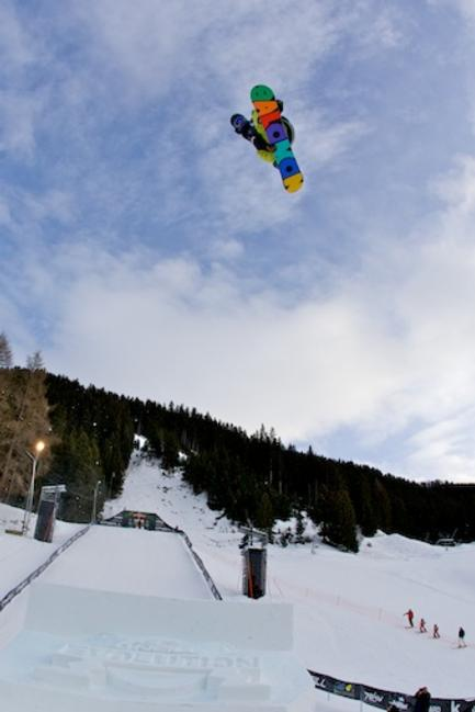 Mens Slopestyle qualification, Evolution 2011 Rider: Max Buri
