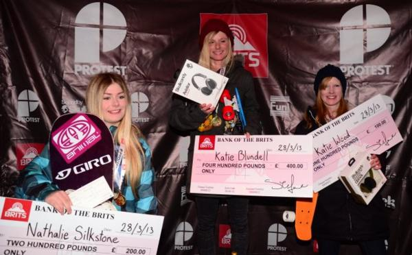 Women's SLopestyle Podium The Brits 2013