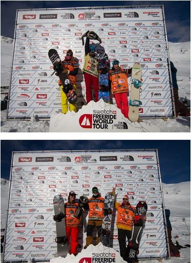 Freeride World Tour Kappl Podiums