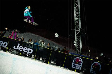 X-Games 09, Women's Halfpipe Finals. Gretchen Bleiler.