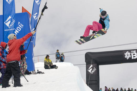 Kate Foster winner of the Brits 2010 female halfpipe