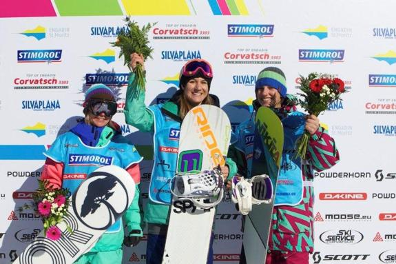 Engadinsnow 2011 womens slopestyle podium