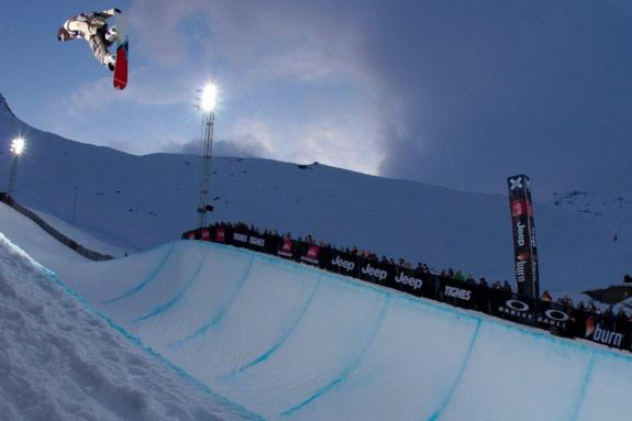 Christian Haller in the 2011 X-Games Europe Halfpipe finals