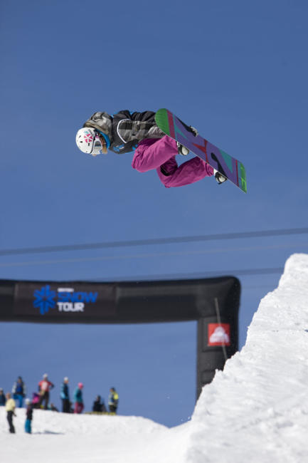 Brits 2011 womens halfpipe winner Kate Foster
