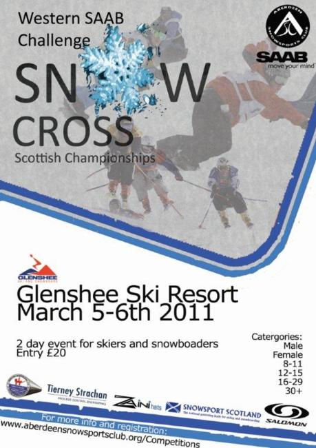 Scottish Snowcross challenge 2011 flyer