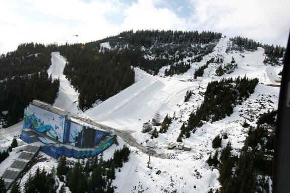 Olympic 2010 boardercross & Halfpipe with Grandstand