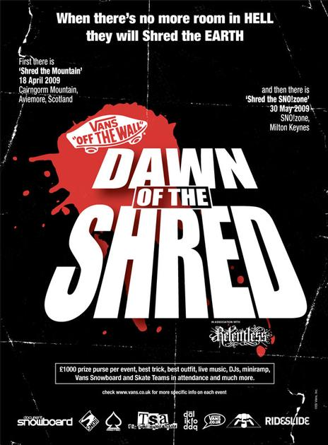 Vans Dawn of the Shred  Part III Flyer