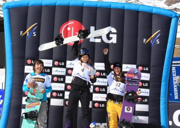 Zoe Gillings 3rd place at the World Cup Snowboard cross finals in Arosa 2011