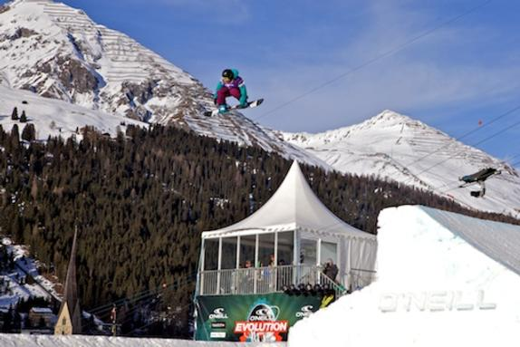 Evolution 2011 womens slopestyle finals Sina Candrian