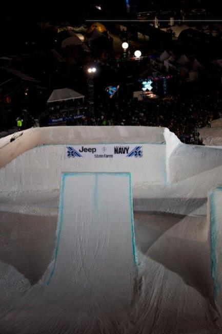 Sebastien Toutant competes in Snowboard Big Air Final at Winter X Games 15