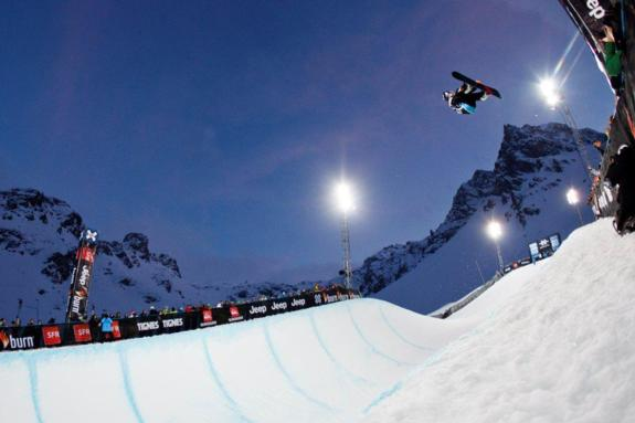 winner Louie Vito in the 2011 X-Games Europe Halfpipe finals