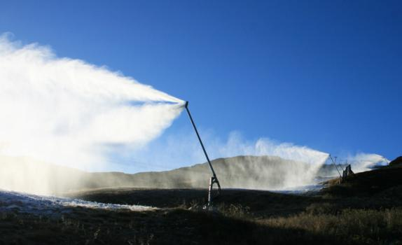 Snowmaking begins at Hemsedal 15th October 2010