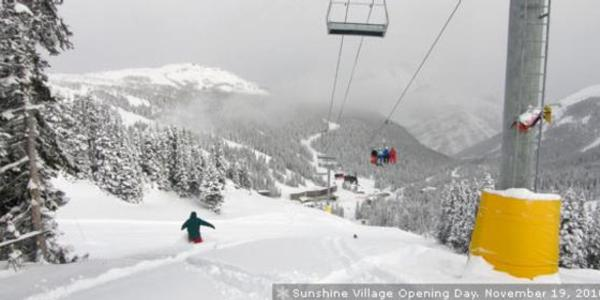 Sunshine Village Banff Set To Open 17/11/2011