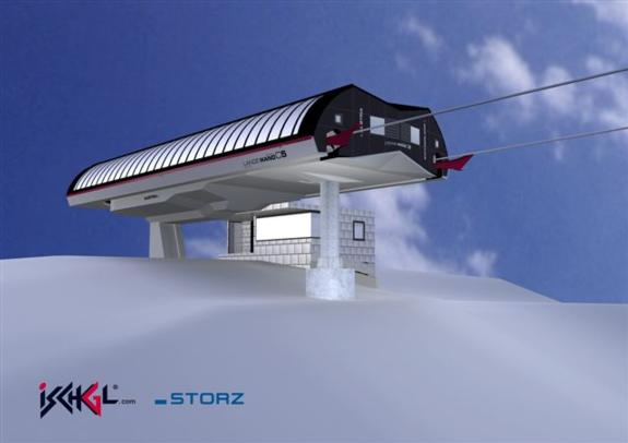 Ischgl's new Lange Wand chairlift for 2010/11