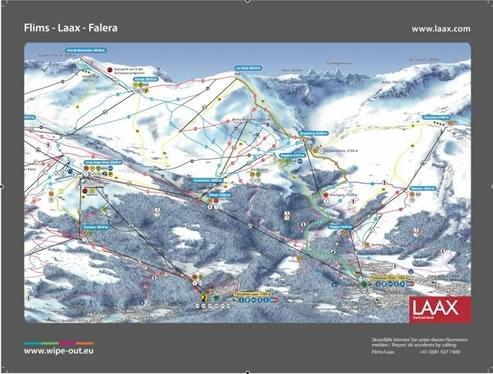 Laax 2010/11 Wipeout Map