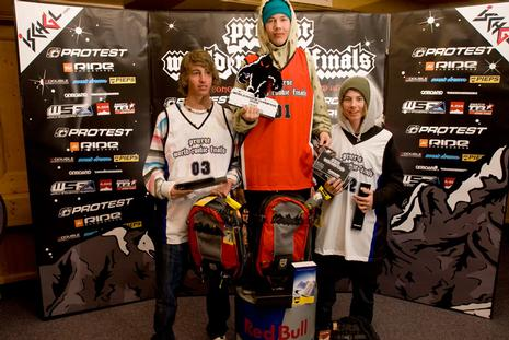 WRF 09 rookie male podium 2009 in Ischgl