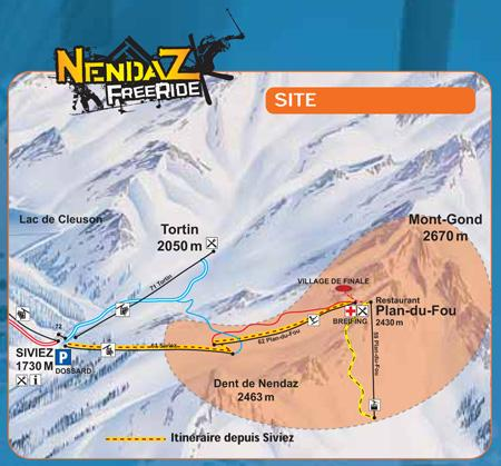 Location of the Nendaz Freeride 2009