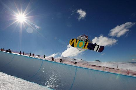 Jiayu Liu  winner of the NZ Games halfpipe 2009