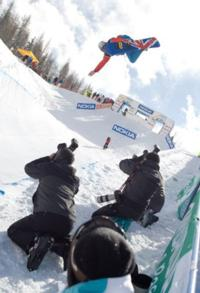 Last event for the British World Cup Halfpipe Team
